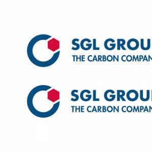 Das bisherige und das überarbeitete SGL Group Logo im Vergleich