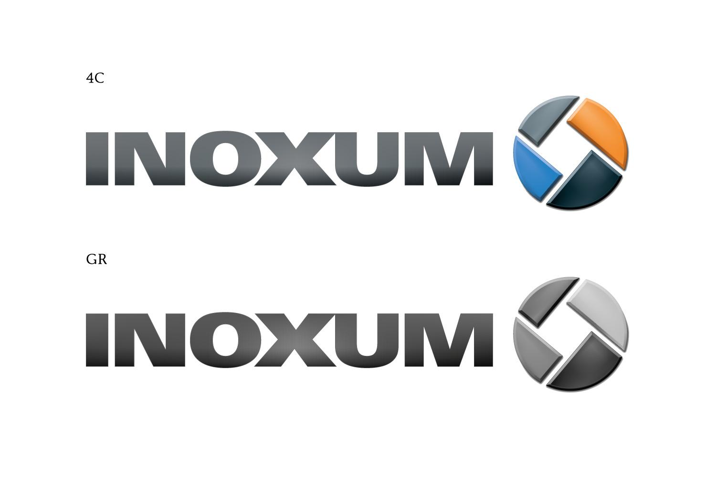 Inoxum Logo 4C und Graustufen