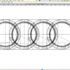 Audi Ringe Illustrator Pfaddarstellung