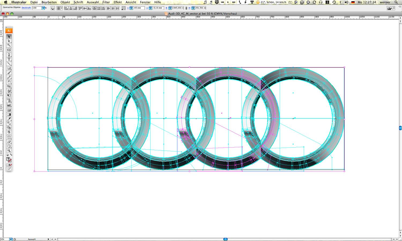 Audi Ringe Illustrator