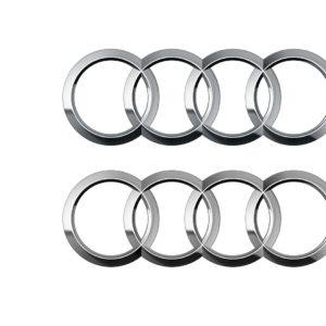 Audi Ringe 4C und Graustufen im Vergleich