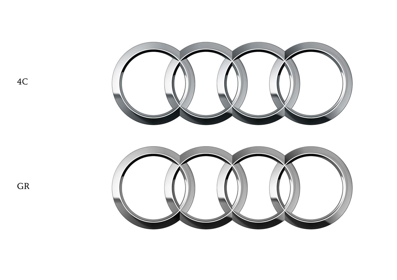 Audi Ringe 4C und Graustufen im Vergleich  MessingerDesign