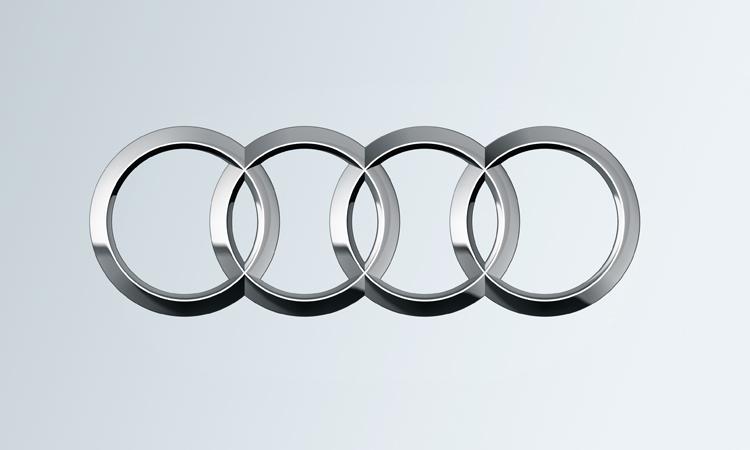 Audi Ringe auf Verlauf