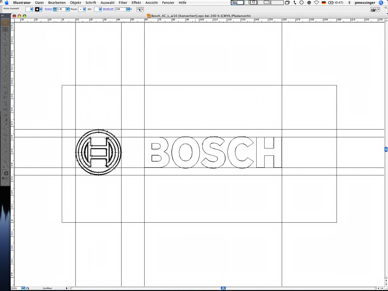 Die Bosch Bildwortmarke in Pfadansicht