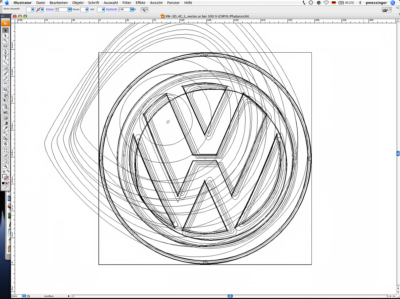 VW Logo Pfadansicht – Screenshot