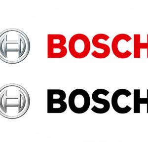 Die Bosch Bildwortmarke in 4C und Graustufen im Vergleich