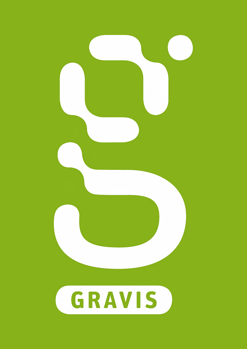 Das Gravis Logo (negativ)