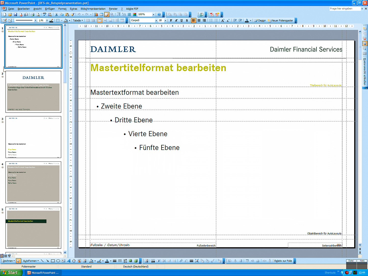 Daimler Financial Services – Folienmaster