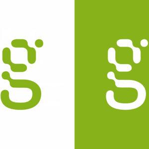 Das Gravis g in Positiv- und Negativdarstellung im Vergleich