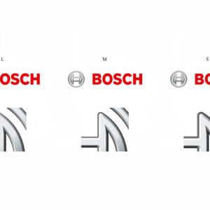 Größenvergleich der Bosch Bildwortmarke