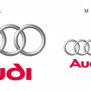 Die drei Größen des Audi Markenzeichens