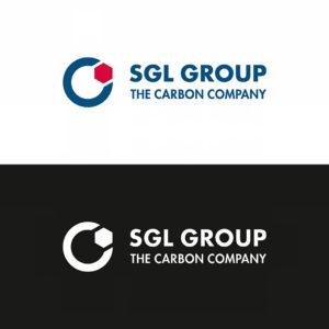 Das SGL Group Logo in Positiv- und Negativdarstellung im Vergleich