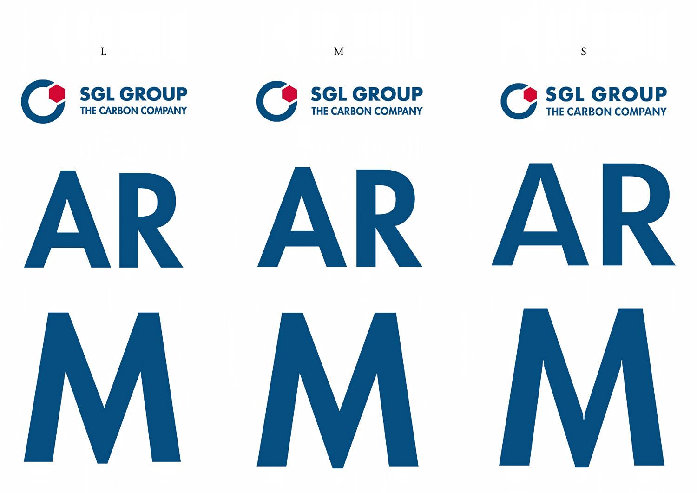 Die drei Größen des SGL Group Logos
