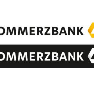 Commerzbank Logo in positiv und negativ
